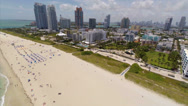Stock Video Footage of Aerial Miami Beach south of 5th TL