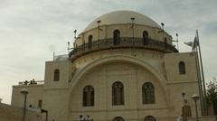 4K+HD The Hurva Synagogue, Jerusalem, Israel Stock Footage