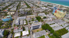 Aerial Sobe Neighborhood 2 Stock Footage