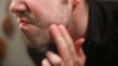 Facial hair stuble beard Stock Footage