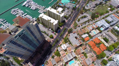 Aerial video of Alton Road Miami Beach Stock Footage