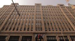 Shanghai Fairmont Peace Hotel tilt over facade Stock Footage