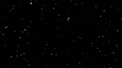 Twinkling rotating stars abstract background, colorful realistic Stock Footage