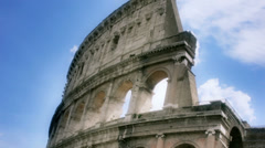 Looking Up Rome Colosseum in Italy - 25FPS PAL Stock Footage