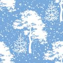 Stock Illustration of Seamless, trees silhouettes and snow