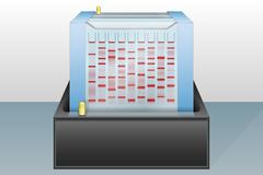 gel electrophoresis device vector illustration - stock illustration