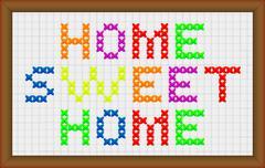 Home sweet home Stock Illustration