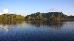Sunrise landscape of Komodo island, Indonesia - stock footage
