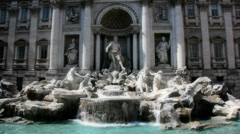 Rome Trevi Fountain Italy - 25FPS PAL Stock Footage