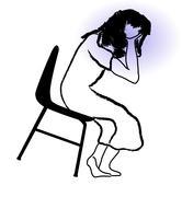 headache - stock illustration