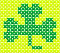 cross stitch shamrock - stock illustration
