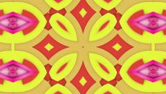 Red and yellow magic carpet, loop Stock Footage