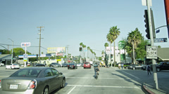 Bicycle on Sunset Strip Palm Trees Los Angeles California LA in 4K Stock Footage