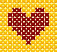 Cross stitch heart Stock Illustration
