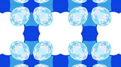 Blue kaleidoscope on white background, loop HD Stock Footage