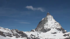 Smoking Matterhorn clouds timelapse Stock Footage