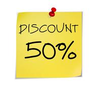 Notes discount Stock Illustration