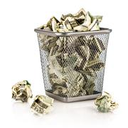 money in a basket - stock photo