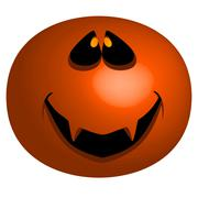 jack o'lantern mask - stock illustration