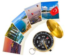 Turkey travel photography on clothespins - stock photo