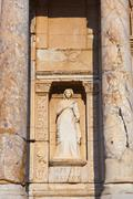 Fragment of Celsius Library in Ephesus Turkey - stock photo