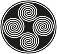 Connected Celtic Double Spirals Stock Illustration