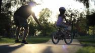 Stock Video Footage of Little Girl Crashes Bike At The Park
