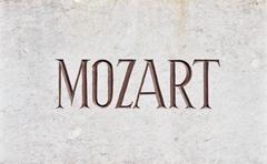 MOZART Letters - stock photo