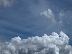 Timelapse view, clouds in front of blue sky, 2.5K - stock footage