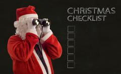 Father christmas business strategy checklist Stock Illustration