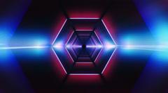 Fluor Tunnel Hexagon Stock Footage