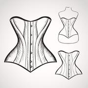 Hand drawn corset Stock Illustration