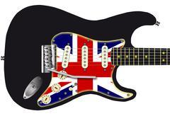 Union jack guitar Stock Illustration