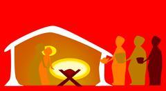 birth of christ - stock illustration