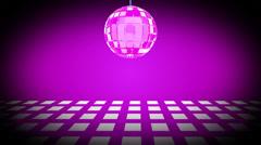 Disco ball and purple dance floor, loop HD - stock footage
