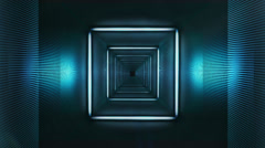 Square Fluor Tunnel Stock Footage