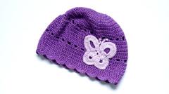 Girls Crochet hat - stock footage