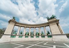 Heroes' square. budapest, hungary Stock Photos