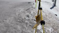 Landscape beside the slopes at Ski Paradise Matterhorn Stock Footage