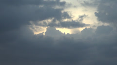 Storm Clouds Over Bucharest, Aerial, Skyline, Down Town, Hand Held Shot Stock Footage