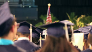 Stock Video Footage of graduation class students in auditorium, sitting