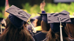 graduation class students in auditorium - stock footage