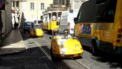SIGHTSEEING WITH THE STORYTELLING CAR, Lisbon - stock footage
