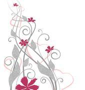 floral decoration - stock illustration