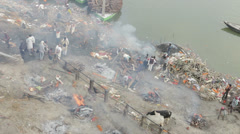 Varanasi-Manikarnika Ghat Stock Footage