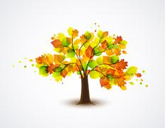 Autumnal tree Stock Illustration