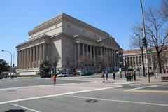 national archives, washington dc - stock photo