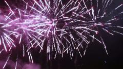 New Year fireworks on holiday Stock Footage