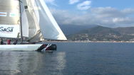 Stock Video Footage of Catamaran navigating slowly