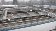 Stock Video Footage of Sewage treatment plant - aeration tanks